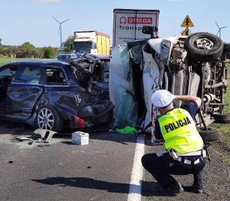 Wypadek w Srocku. Na DK 91 zderzyło się pięć samochodów