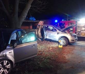 Gmina Zbąszyń: Poważny wypadek w Perzynach. 4 osoby ranne [ZDJĘCIA]