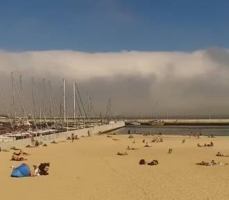Efektowna mgła adwekcyjna nad Zatoką Gdańską
