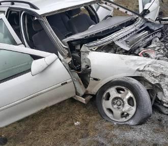 Wypadek na S1 w Mierzęcicach. NOWE ZDJĘCIA