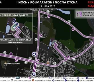 """I Półmaraton i """"Nocna Dycha"""" w Piekarach Śląskich. Poznaj trasy"""