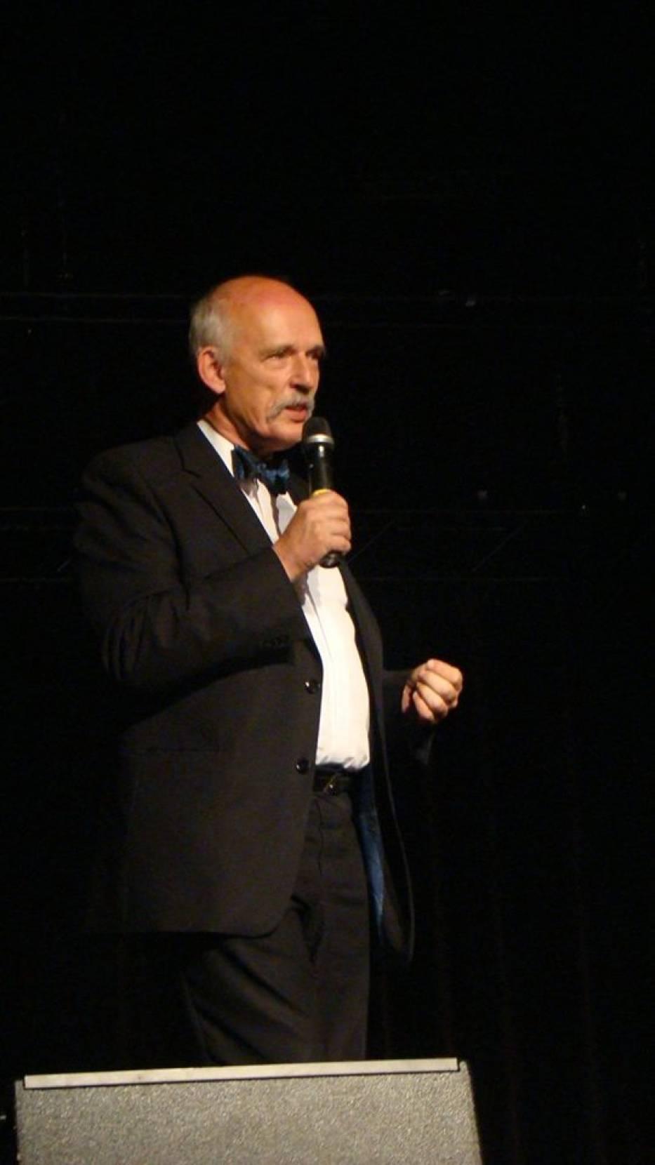 Janusz Korwin-Mikke w Żorach