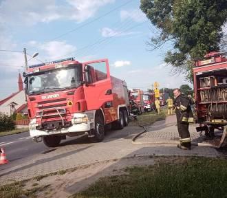 Pożar w Okupie w gminie Łask ZDJĘCIA