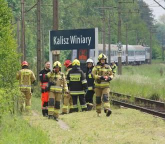 Tragedia na torach w Kaliszu. Mężczyzna śmiertelnie potrącony przez pociąg. ZDJĘCIA