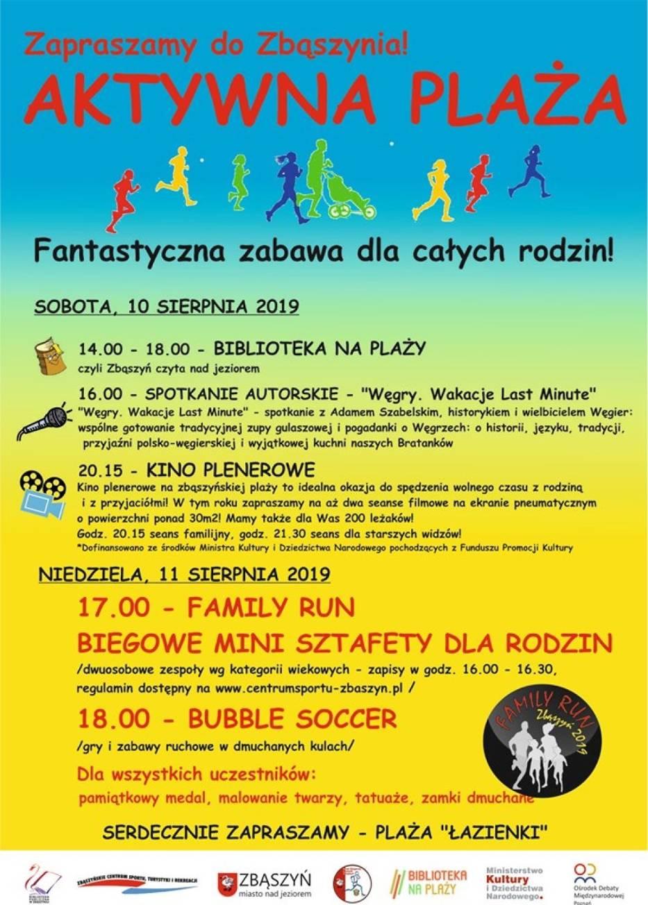 Aktywna Plaża. Family Run - Biegowe mini sztafety dla rodzin. 11 sierpnia 2019