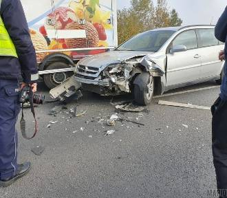 Zderzenie trzech samochodów na obwodnicy Kluczborka