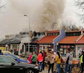 Wielki pożar sklepu w centrum Zielonej Góry [ZDJĘCIA]