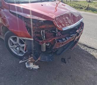 Zderzenie dwóch pojazdów na skrzyżowaniu w Brzyskach [ZDJĘCIA]