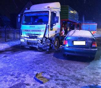 Wypadek trzech pojazdów w Perzowie. Jedna osoba nie żyje