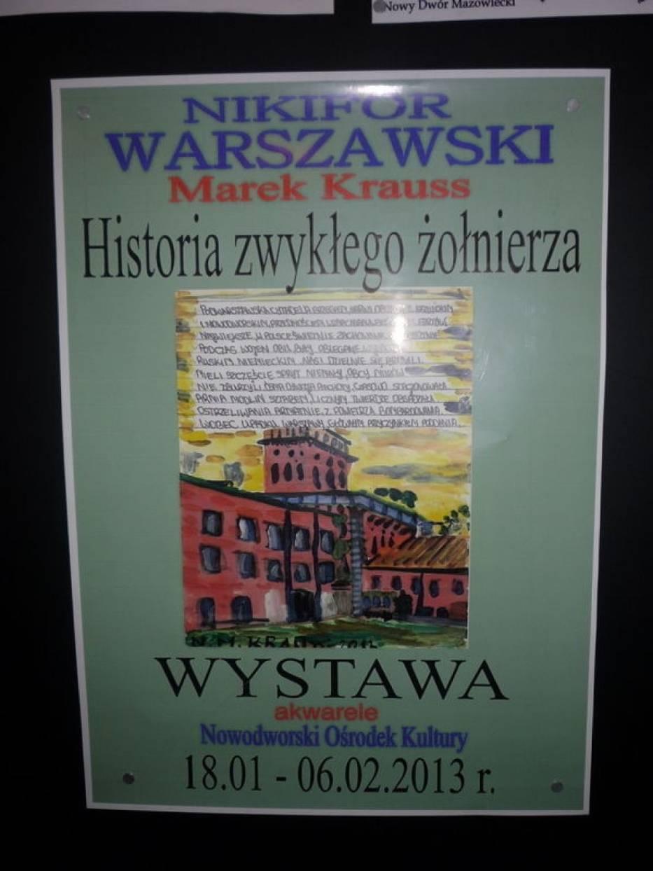 Plakat zapowiadajacy wystawę