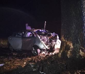 Śmiertelny wypadek na trasie Mikoszki - Bonikowo ZDJĘCIA