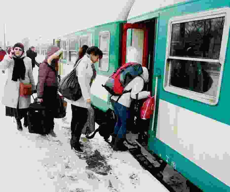 Różne niespodzianki mogą nas spotkać zimą w pociągach