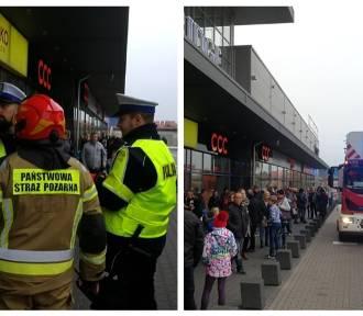 Ewakuacja galerii handlowej we Włocławku. W akcji 3 zastępy straży pożarnej [zdjęcia]