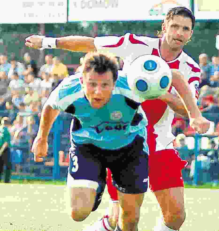Marcin Mięciel (od prawej) z pewnością zagra w piątkowym meczu z Piastem Gliwice