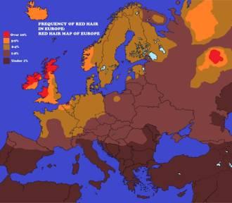 Kujawsko-Pomorskie to oaza rudzielców. Na europejskiej mapie jesteśmy małą Irlandią