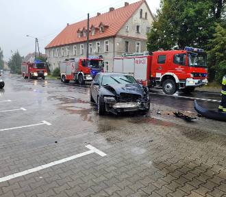Wypadek w Ołdrzychowicach Kłodzkich. Zderzyły się trzy samochody
