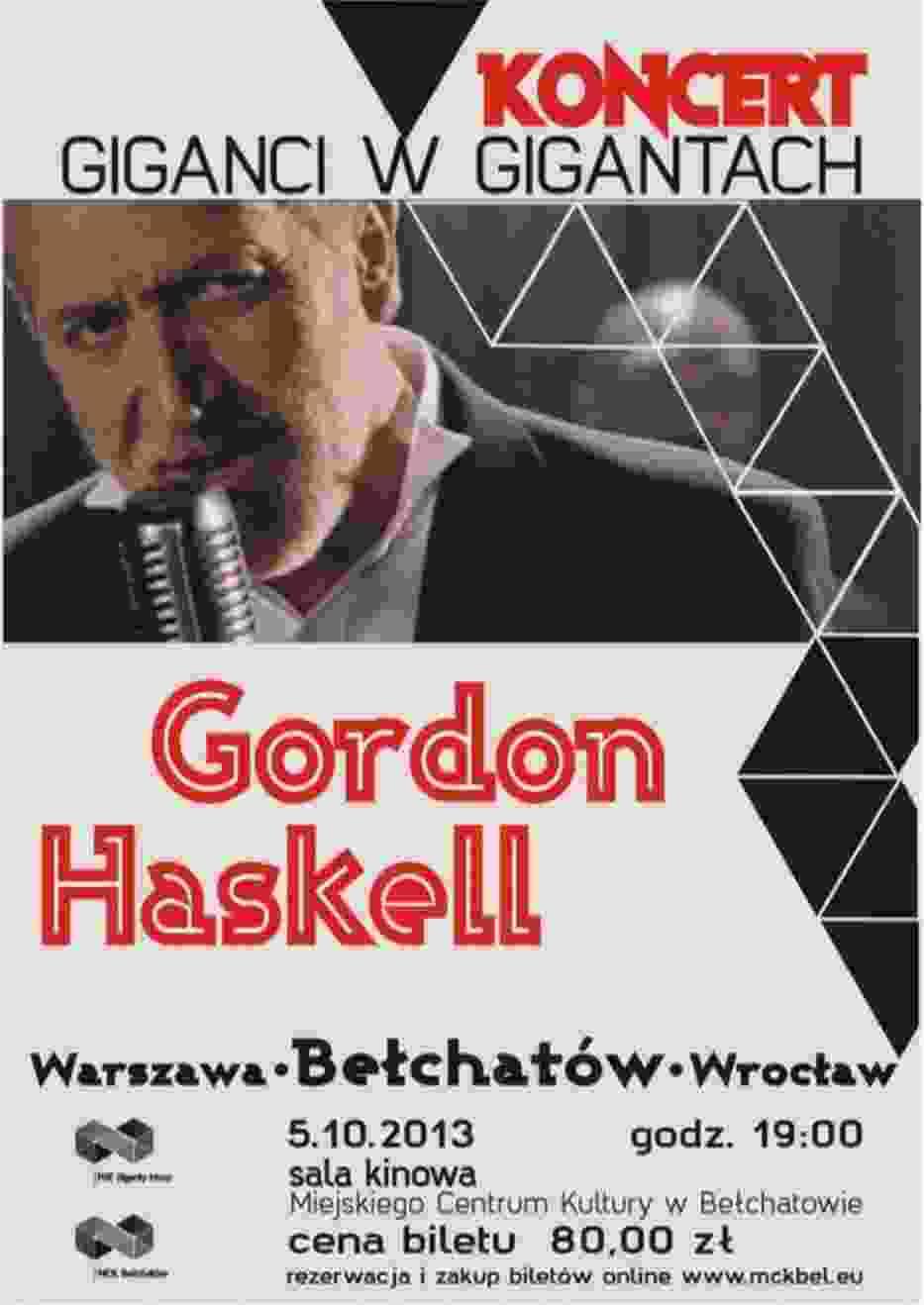Gordon Haskell w Bełchatowie