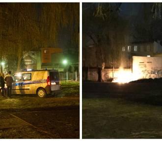 Podpalenie na terenie SP 10. Przechodzień zauważył ogień [ZDJĘCIA]
