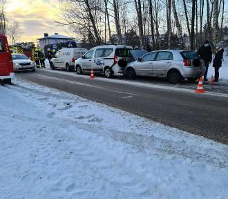 Wypadek na ulicy Lotniczej w Baninie - jedna osoba poszkodowana