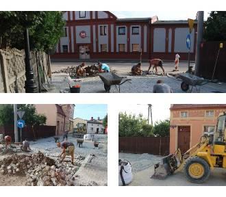 Postępy w pracach remontowych na ul. Kaczej i Łaziennej