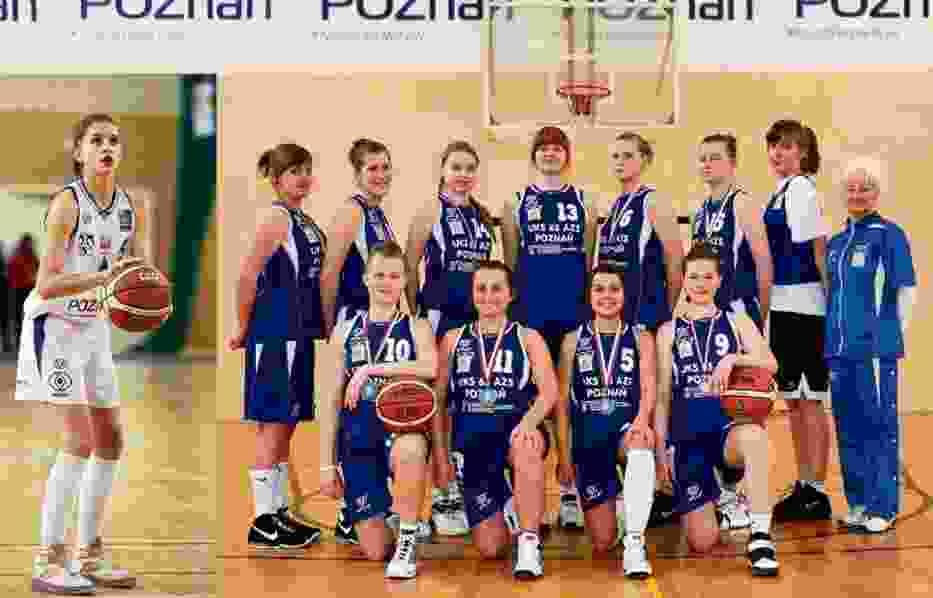 Zespół INEA UKS 65 AZS Poznań po wygranej w Gimnazjadzie 2010