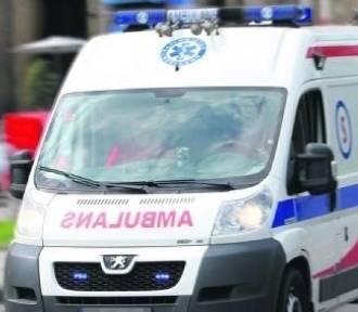 Wypadek motocyklistki na drodze 94 pod Olkuszem