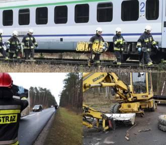 Gmina Zbąszyń. TIR z powia kościańskiego wjechał pod pociąg Intercity!