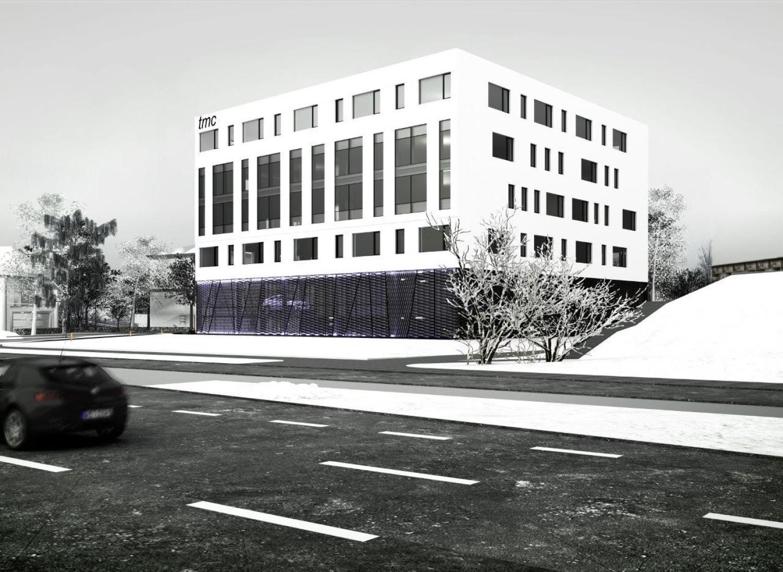 Wizualizacja biurowca DTŚ Office Center w Chorzowie