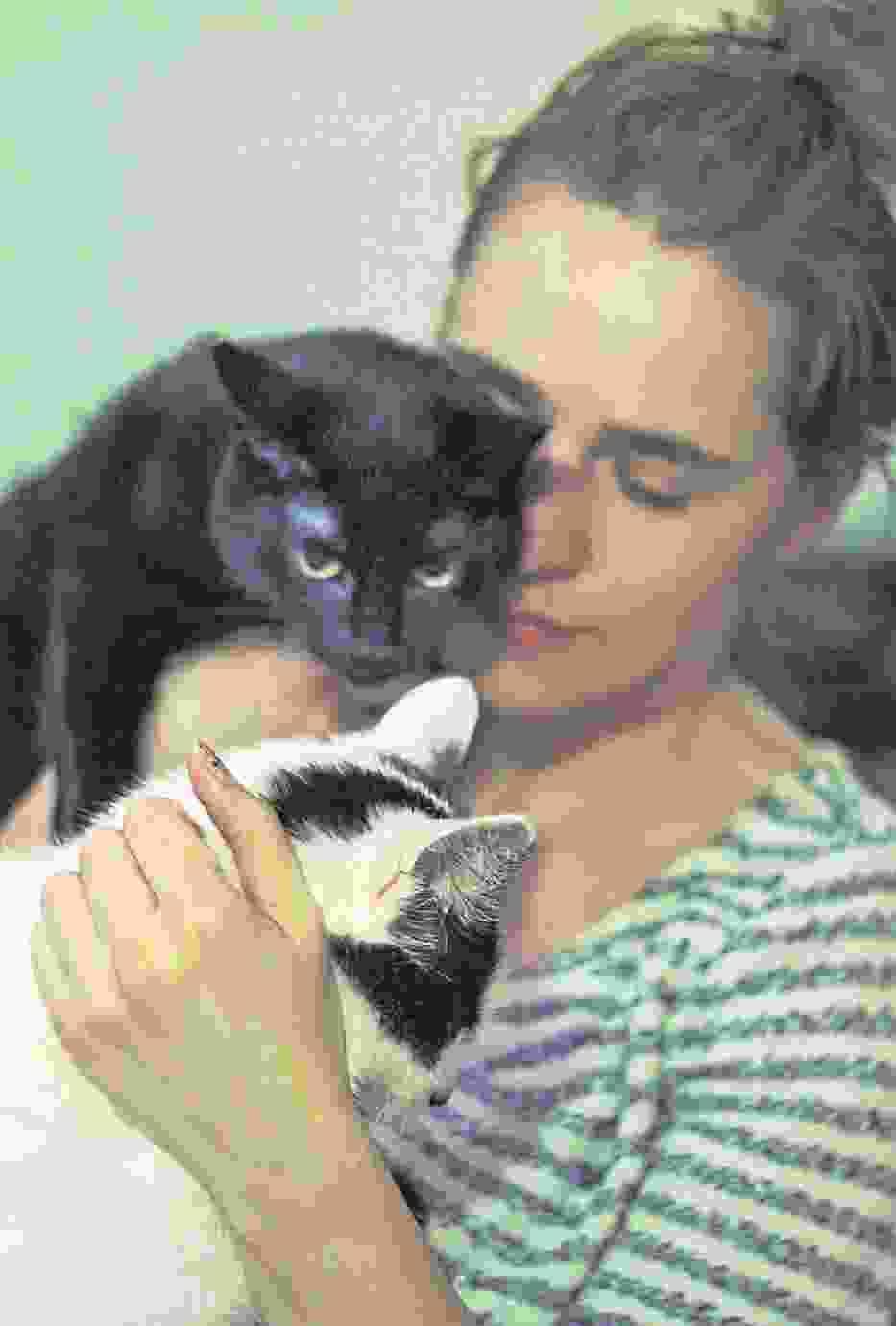 Monika z Torunia wraz z Fridą i Bluesem