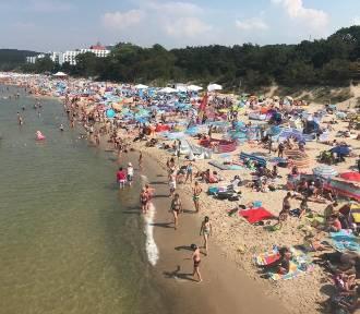 Tak wygląda plaża w Międzyzdrojach. Gdzie dystans? Gdzie maseczki? [FILM, ZDJĘCIA]