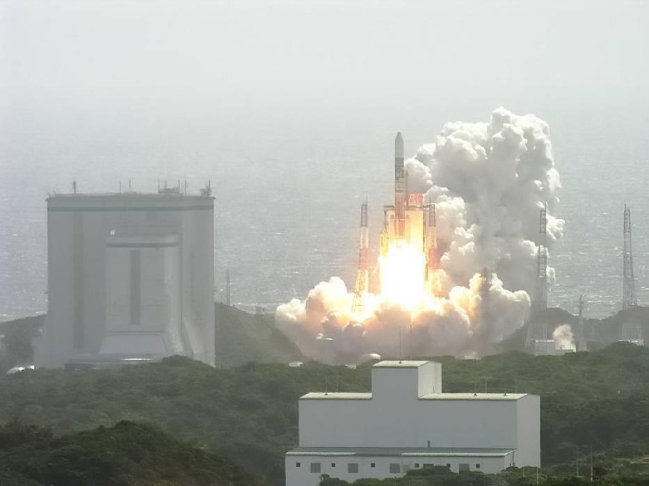 Start rakiety H-2A, z wyrzutni kosmodromu Tanegashima 14 września 2007 r