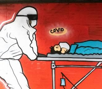 Sugestywny mural w Poznaniu. Dosadnie komentuje sytuację w służbie zdrowia