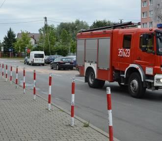 Zderzenie samochodów na ulicy Cichej w Skierniewicach [ZDJĘCIA]