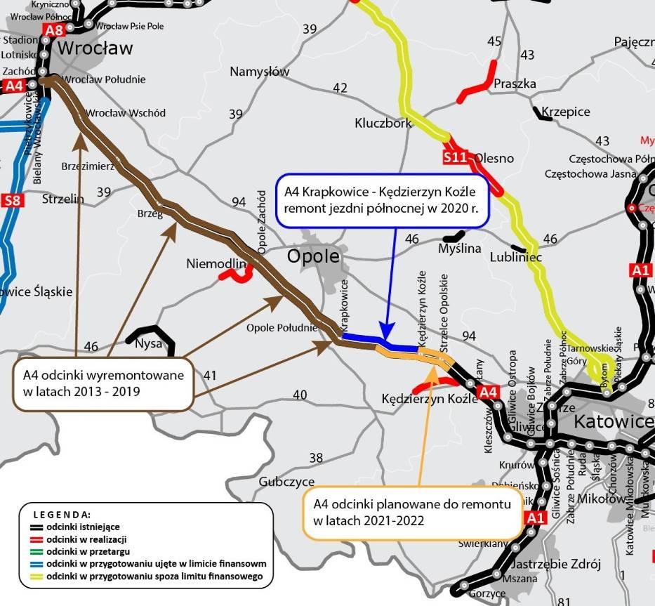 Kolejny opolski odcinek autostrady A4 został wyremontowany