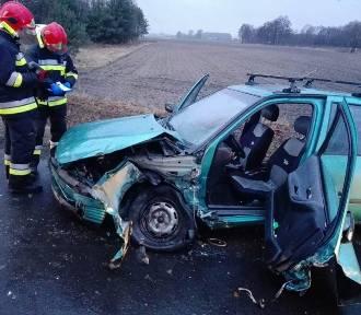 Gmina Zbąszyń: Czołowe zderzenie aut [ZDJĘCIA