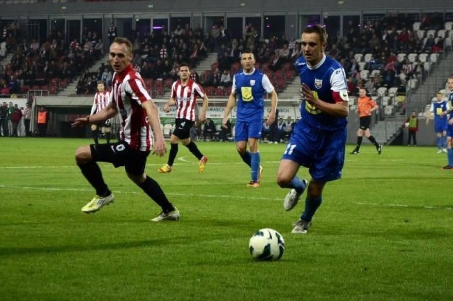 Podczas sobotniego meczu Cracovia- Kolejarz Stróże
