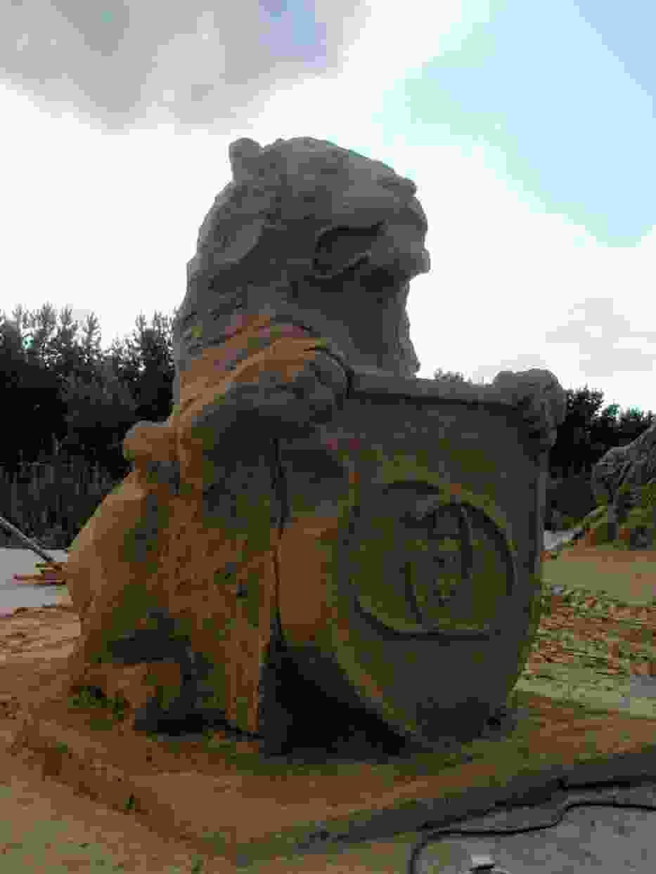 Aby zrealizować konkursowe zadania zużyto trzy tysiące ton żwiru z domieszką gliny