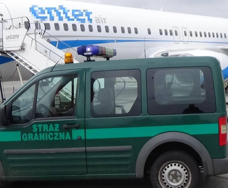 Ławica Poznań: Na pokładzie samolotu interweniowała straż graniczna