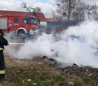 Strażacy na ratunek do pożaru w Koninie (gm. Pniewy)
