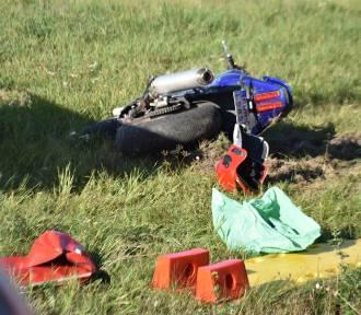 Września: Nie udało się uratować motocyklisty - Łagiewki/Kołaczkowo