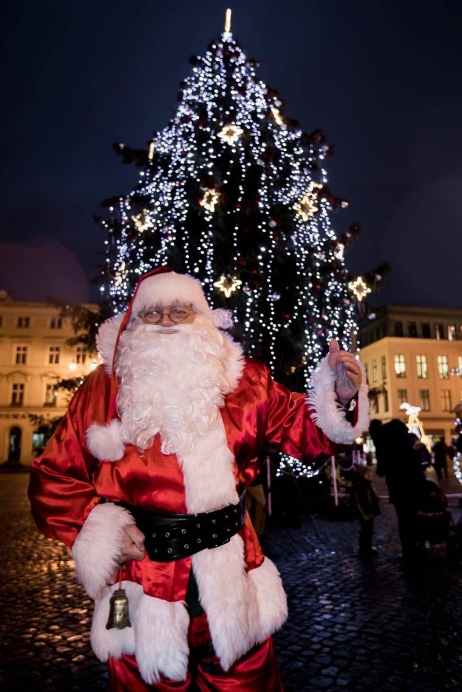 Choinka od kilku dni już stoi na bydgoskim Starym Rynku, ale od 6 grudnia można podziwiać 15-metrowy świerk w pełnej krasie