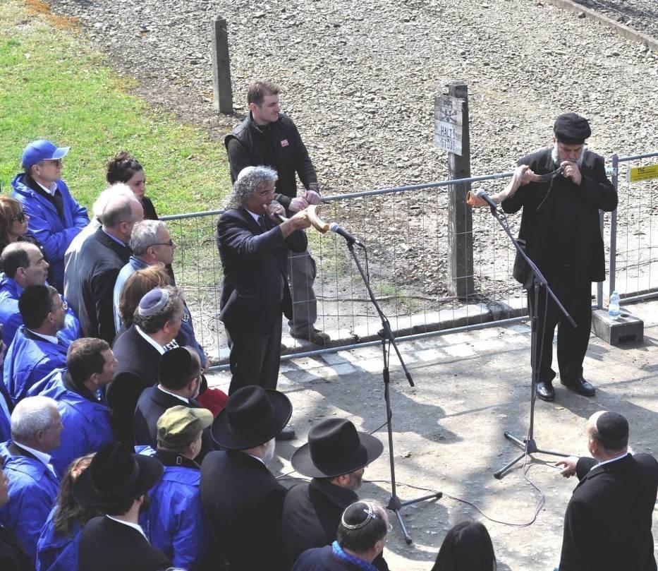 Sygnałem do rozpoczęcia marszu był dźwięk szofaru, baraniego rogu pasterskiego