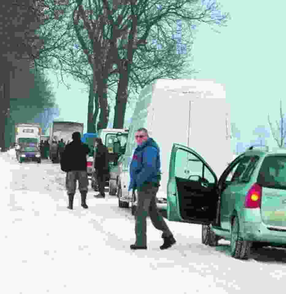 Zdezorientowani kierowcy stali na drodze Szamotuły – Obrzycko przez kilka godzin