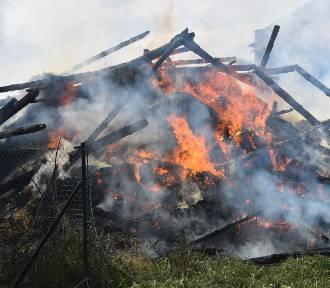 Spłonęła stodoła w Srocku Wielkim [FOTO]