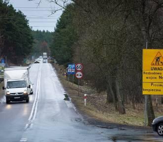 Droga Bełchatów - Łękawa w rękach drogowców. Uwaga kierowcy - od przyszłego tygodnia - wahadła!