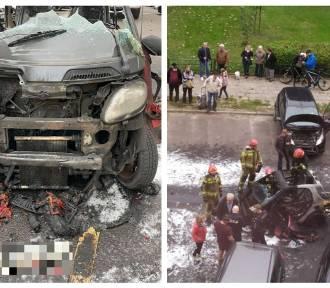 Pożar samochodu marki Smart na Zazamczu we Włocławku [zdjęcia]