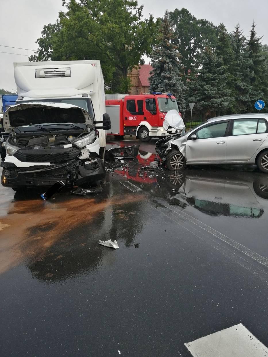 Wypadek w miejscowości Osiek (na trasie Rypin - Brodnica)