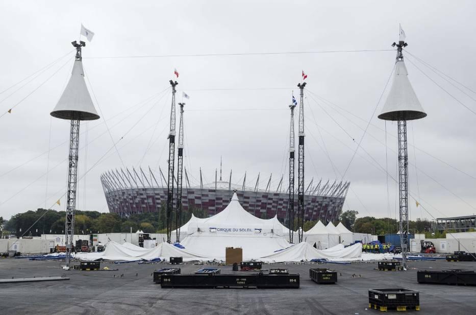 Cirque du Soleil rozkładanie namiotu