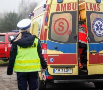 Potrącenie w Grucie. Mężczyzna trafił do szpitala