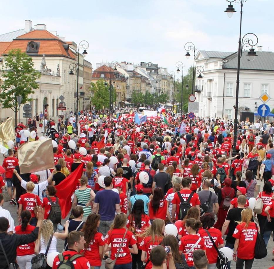 Marsz dla Jezusa po raz kolejny przejdzie ulicami Warszawy